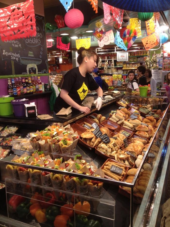 Barcelona food stall