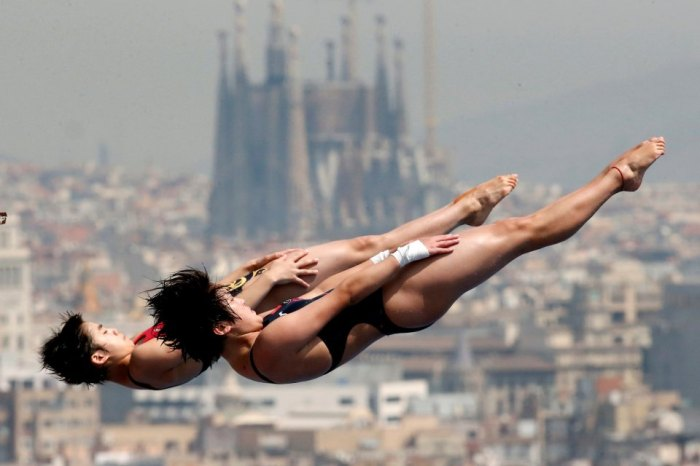 synchronized swimmers Barcelona