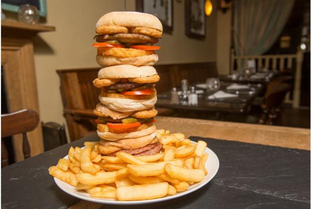england's tallest burger